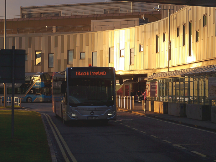 Edinburgh Airport is widely served by public buses.