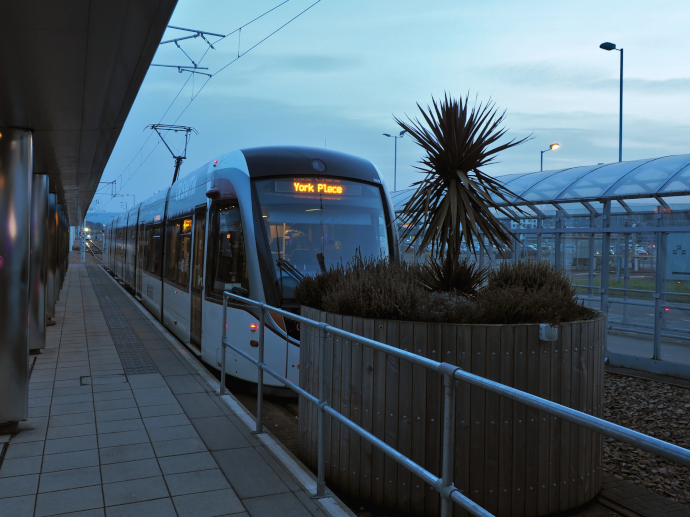 Tram is the most convenient way to downtown Edinburgh.